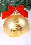 Big golden xmas bauble Stock Image