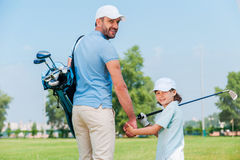 They are the big golf fans. Royalty Free Stock Images