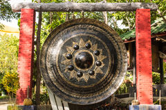 Big Gong in Wat Mokkanlan , Chomthong Chiangmai Thailand Stock Image