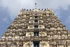 Big gopuram temple Royalty Free Stock Photo