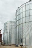 Big grain elevator in а rural zone Royalty Free Stock Photos