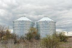 Big grain elevator in а rural zone Royalty Free Stock Images
