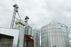Big grain elevator in а rural zone Royalty Free Stock Photo