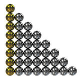 The big graph. Of shiny metal balls Royalty Free Stock Photos