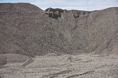 Big gravel pile in a quarry Royalty Free Stock Photo