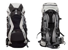 Big gray-black backpack Royalty Free Stock Photos