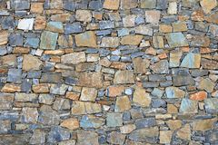 Big gray wall from stone bricks royalty free stock photos