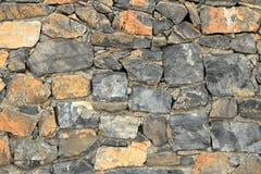 Big gray wall from stone bricks royalty free stock photography