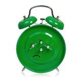 Big green alarm clock Stock Image