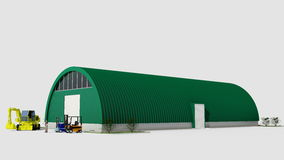 Big green hangar Royalty Free Stock Photography