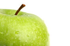 Big green apple close up Royalty Free Stock Photography