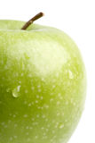 Big green apple close up. Royalty Free Stock Photo