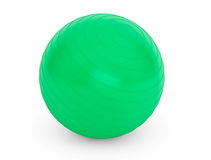 Big green ball for fitness detail Stock Images