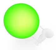 Big green ball and person Royalty Free Stock Photos