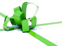 Big green bow Stock Image