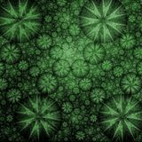 Big Green Bulge Fractal. Background Stock Images