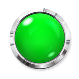 Big green button Stock Photo