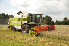 A big green combine Royalty Free Stock Photos