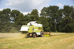 A big green combine Royalty Free Stock Images