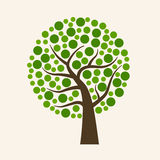 Big green ecology tree Royalty Free Stock Photography