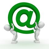 Big green email!!!. Big green email. 3d image isolated on white background Royalty Free Stock Photos