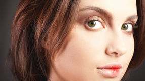 Big green eyes Royalty Free Stock Images