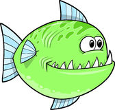 Big Green fish Vector Royalty Free Stock Images