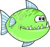 Big Green fish Vector Royalty Free Stock Images