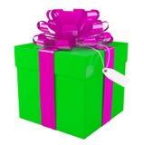 Big green gift box Royalty Free Stock Photos