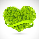 Big green heart Stock Photography