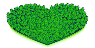 Big green heart Royalty Free Stock Image
