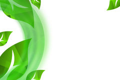 Big green leaves abstract background Royalty Free Stock Photo