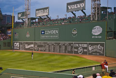 The Big Green Monster, Fenway Park. The iconic Left Field wall at Fenway Park Royalty Free Stock Photo