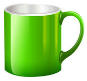 A big green mug Royalty Free Stock Images