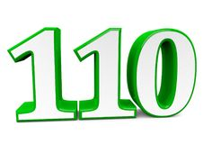 A big green number for happy birthday. You see a big number in wihte with a green frame vector illustration