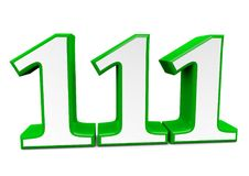 A big green number for happy birthday. You see a big number in wihte with a green frame Stock Photography