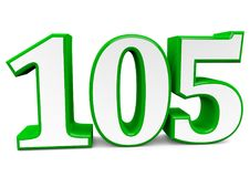 A big green number for happy birthday. You see a big number in wihte with a green frame Stock Images