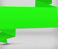 Big Green Origami Background Image Stock Photos