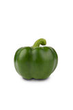 Big green pepper. Fresh green pepper isolate on white Royalty Free Stock Image