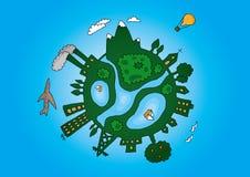 Big green planet Stock Image