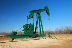 Big Green Pump Jack Royalty Free Stock Image