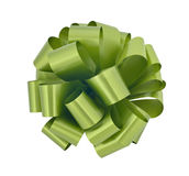 Big green ribbon bow cutout Royalty Free Stock Photo
