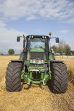 Big green tractor Stock Images