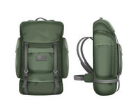 Big green travel backpack Stock Photo