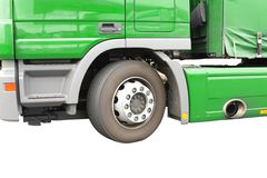 Big green truck. Royalty Free Stock Images