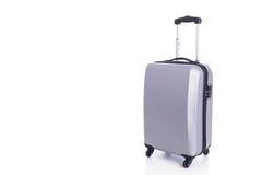Big grey luggage isolated on white background Royalty Free Stock Photos