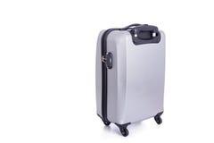 Big grey luggage isolated on white background Royalty Free Stock Images