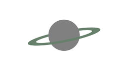Big grey planet with a green ring Stock Photography