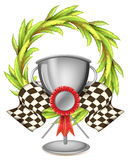 A big grey trophy with a ribbon Royalty Free Stock Images