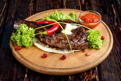 A big grilled steak Royalty Free Stock Photo